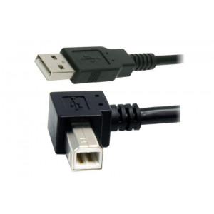 Powertech καλωδιο USB 2.0 Α σε Β(90o) σε χρωμα BLACK - 1.5m