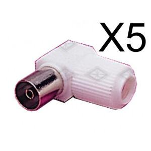 Powertech adapter PAL 9.5mm για TV 90o - F - 5TEM