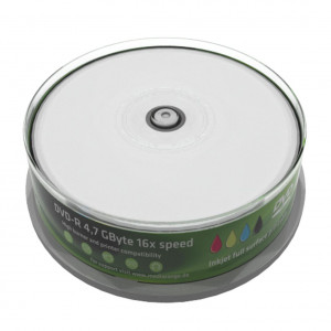 MR DVD-R 4.7GB 16x - Cake 25, inkjet FF print.