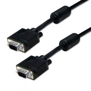 PT VGA HD 15pin - 20m -M/M / 2 x F (3+6) - BLACK