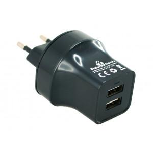 POWERTECH φορτιστής 2.4A - 2 x USB