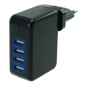 POWERTECH φορτιστης τοιχου 4x USB(4.2A)