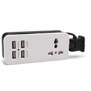 POWERTECH πολυφορτιστης 4x USB + UNIVERSAL plug ρευματος