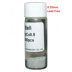 Solder Balls 0.55mm, Lead Free, 25k