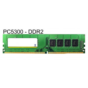 MAJOR used RAM U-Dimm μνήμη (Desktop) DDR2, 1GB PC5300
