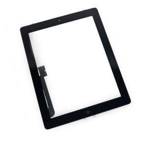 Touch Panel - Digitizer High Copy for iPad 3, with tape, without home button, Black