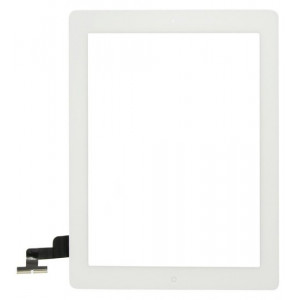 Touch Panel - Digitizer High Copy for iPad 2, tape, without home button, White