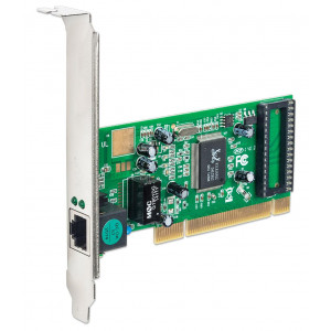 POWERTECH Καρτα Επεκτασης PCI to LAN 10/100/1000, Chipset RTL8169SC