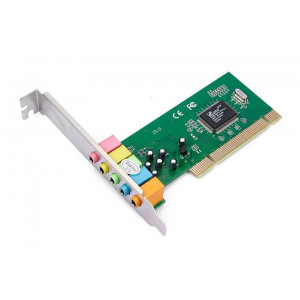 POWERTECH Καρτα Επεκτασης PCI to 6 channel Audio, Chipset CM8738