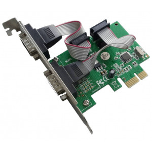 POWERTECH Καρτα Επεκτασης PCI-e to 2x Serial (RS232), Chipset WHC382