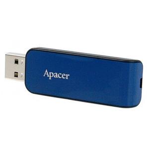 APACER USB Flash Drive AH334, USB 2.0, 64GB, Blue