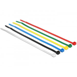 DELOCK Δεματικα καλωδιων, 200x3.6mm, Χρωματιστα, 100τεμ