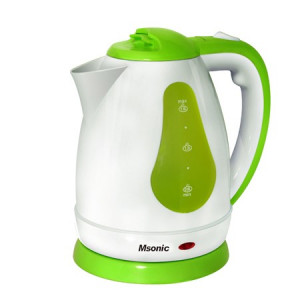 MSONIC Βραστήρας νερού MEN438WE 1.8L, 1500Watt, Λευκό/πράσινο