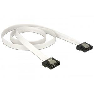 DELOCK Καλωδιο SATA 7-pin 6 Gb/s, Flat, White, 0.5m