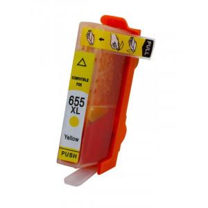 Συμβατο Inkjet για HP, 655, 14.6ml, Yellow