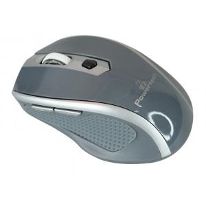 POWERTECH Wireless Mouse, Οπτικο, 1600 DPI, πλαϊνα πληκτρα, Gray