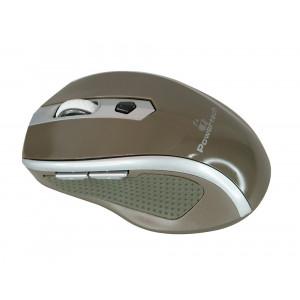 POWERTECH Wireless Mouse, Οπτικο, 1600 DPI, πλαϊνα πληκτρα, Brown