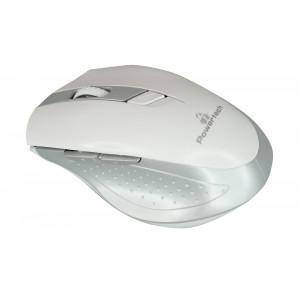 POWERTECH Wireless Mouse, Οπτικο, 1600 DPI, πλαϊνα πληκτρα, White-Silver