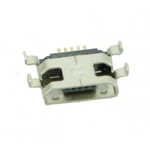 Micro USB TYPE B Female Sink 0.8 DIP Flat 5P, Silver