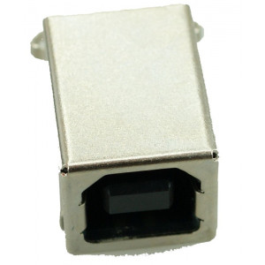 USB 2.0 Connector B TYPE, MID Solder in, Cooper, Gold