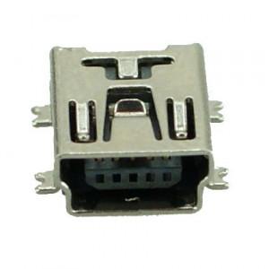 USB 2.0 Connector Mini USB, pins ίσια, Silver