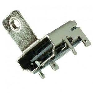 HDMI Connector A TYPE2, pins ίσια με κούμπωμα, βάση βιδώματος, Silver