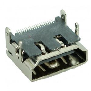 HDMI Connector C TYPE3, pins ίσια με κούμπωμα, Silver
