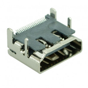 HDMI Connector C TYPE2, pins ίσια, Silver