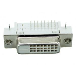 DVI Connector - DVI 25P, Nickel, White