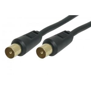 Powertech καλωδιο κεραιας για τηλεοραση pal - 3m - (M-M) - BLACK
