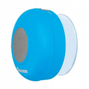 VAKOSS Φορητό Bluetooth Ηχείο, με βεντούζα στήριξης, Blue