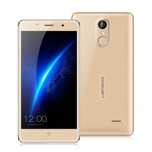 "LEAGOO Smartphone M5, 5"" IPS, Quad Core, 2GB RAM, Fingerprint, Gold M5-GD"