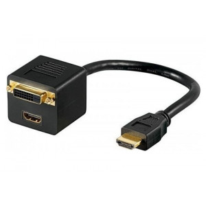 Powertech spliter HDMI M/DVI 24+1 F & HDMI F-0.20M