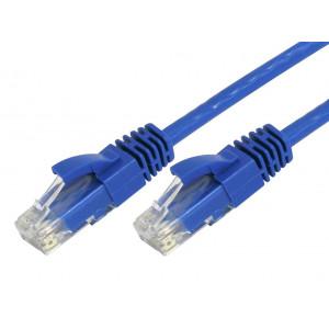 Powertech καλωδιο UTP CAT5E, CCA, BLUE, 0.5M