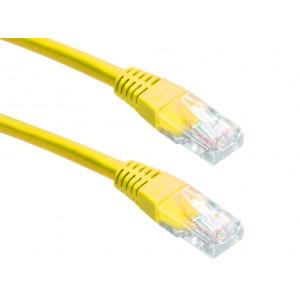 Powertech καλωδιο UTP CAT5E, CCA, YELLOW, 0.5M