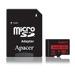 APACER Καρτα Μνημης Micro SDHC UHS-I U1 R85, 64GB, Class10