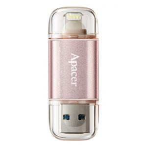 APACER USB Flash Drive AH190, USB 3.1 & 8-Pin, 32GB, Rose Gold