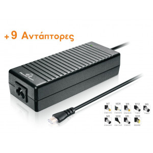POWERTECH φορτιστής  LAPTOP, Universal -AUTO - 120 watt - 9 Tips