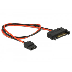 DELOCK Cable SATA 15pin σε SATA 6pin, 30 cm