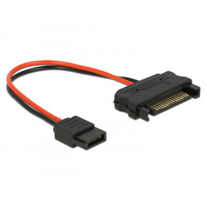 DELOCK Cable SATA 15pin σε SATA 6pin, 10 cm