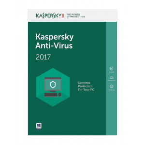 Kaspersky Anti-Virus 2017 (3 Άδειες, 1 έτος) - English