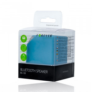 FOREVER Bluetooth Speaker BS-130, Portable, FM Radio, TF card slot, Blue