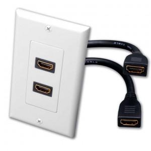 POWERTECH πριζα τοιχου 2 x HDMI 19 pin