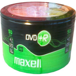 MAXELL DVD+R 16x 120min 4,7Gb 50 Spindle