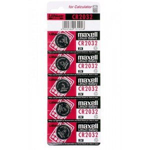 MAXELL μπαταρια κουμπι 3v, CR-2032 - 5ΤΕΜ