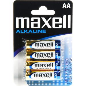 MAXELL Αλκαλικες μπαταριες μεγεθους AA Συσκευασια μπλιστερ 4 τεμαχιων