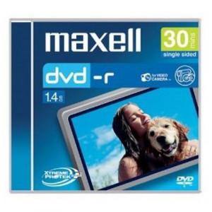 MAXELL DVD-R 8CM, 1.4GB 30min jewel case