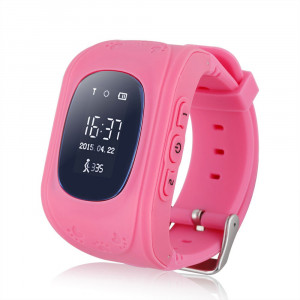 GPS Tracker Παιδικό ρολόι χειρός Q50, SOS-Βηματομετρητής, Pink AK-Q50-PK