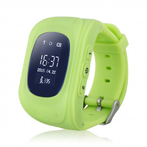GPS Παιδικό ρολόι χειρός Q50, SOS-Βηματομετρητής, Green AK-Q50-GN