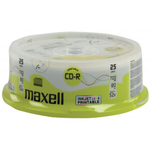 MAXELL CD-R 80min 700mb 52x 25Cake pack Printable FF